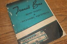 1947 Ford Transit Bus Body Parts and Accessory Equipment Manual, Original
