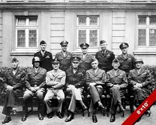 UNITED STATES WORLD WAR 2 MILITARY LEADERS WWII II PHOTO REAL CANVASART PRINT