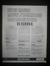 SUZUKI VL1500K4 Set Up Manual Set-Up VL 1500 K4 99505-01074-011 Motorcycle