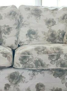 IKEA Ektorp Cover for Sofa NORLIDA BEIGE 3 Seat SLIPCOVER Floral White Romantic
