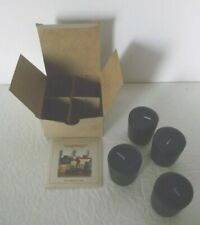 """Longaberger Votive Candles """"Proudly American"""" American Breeze Scent 4 Pack Blue"""