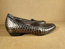CLARKS Everyday Brown Leather Snake Emboss Slip On  Women Casual Shoes 5.5 M