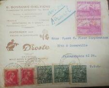 O) 1950 Belgium. Airmail, Insdutrial Arts Scott A99 - Communication Center A101,