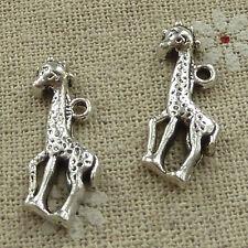 free ship 120 pieces tibetan silver giraffe charms 25x10mm #3680