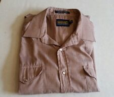 Panhandle Slim Mens 16-34 Taupe Pearl Button Down Long Sleeve Western Shirt