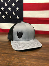 Fear the Beard Hat Richardson 112 Trucker Hat Heather Grey/Blk Christmas Gift