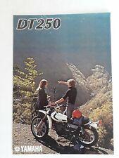 1970s Yamaha DT250sales literature.
