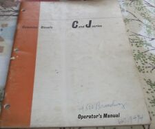 CUMMINS C AND J SERIES OPERATOR'S MANUAL~CUMMINS OPERATOR'S MANUAL~EC