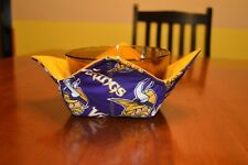 New listing Quilted microwave bowl / pot holder / hugger (cozy) Minnesota Vikings Football