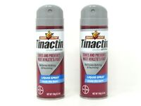 (2) Tinactin Antifungal Liquid Spray Athlete's Foot 5.30 oz Each Exp 04/2023