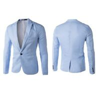 Stylish Mens Casual Slim Fit One Button Suit Blazer Coat Jacket Tops outwear New