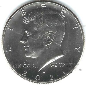 2021-D Denver Brilliant Uncirculated  Kennedy Half Dollar Coin!