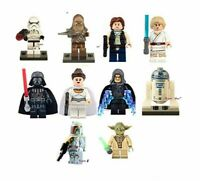 STAR WARS 10 x MINI FIGURES FIT LEGO MINIFIGS HAN SOLO  DARTH VADER SKYWALKER UK