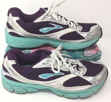 Women's/Kid's Brooks Ghost 4 Size 7/5.5 Purple White Running Sneakers Shoes Q12