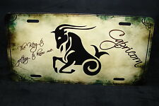ZODIAC CAPRICORN METAL NOVELTY LICENSE PLATE TAG FOR CARS HOROSCOPE ASTROLOGY