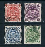 Australia 1949-50 - 5sh to £2 Coat of Arms - SC 218-221 [SG 224a-224d] USED T3