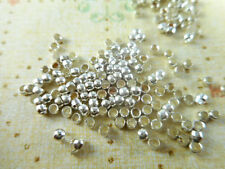 300 Silver Plated 1.5mm Round Crimps Beads 10920