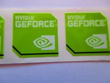 Lot of 50 original NVIDIA GeForce replacement stickers 18mm x 18mm for Desktop