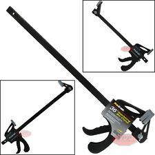 "36"" Nylon Ratchet Bar Clamp Heavy Duty Spreader Carpenter Woodworking Wood Tool"