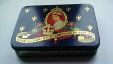 Vintage 1953 Coronation TIN Elizabeth II & Duke Of Edinburgh cadburys queen