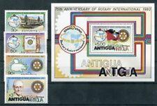 448235) Antigua Nr. 577-580 + Block 48 **, Rotary