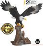 Bald Eagle Figurine Bird Statue Vintage Figurine Home Art Decor Indoor Garden