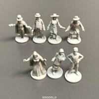7 Pcs man For Dungeons & Dragon D&D Board Game Miniatures figure  #80