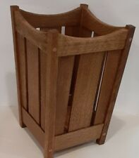 Trash Basket, Arts and Crafts, Mission Quartersawn Oak