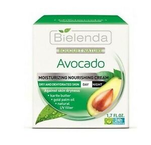 Bielenda Avocado Hydrating Face Cream For Dry Skin Moisturiser Day and Night