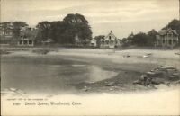 Woodmont CT Beach Scene & Homes c1905 Postcard
