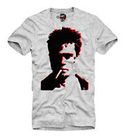 E1SYNDICATE T-SHIRT FIGHT CLUB BRAD PITT TYLER DURDEN MAYHEM GREY 	1912g