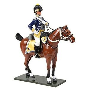 W. Britain - Gloss British 10th Light Dragoons Officer Mounted, 1795 47060
