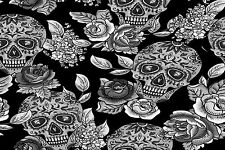 STUNNING Mexican Sugar Skulls Canvas Picture #16 Wall Hanging Pop Art A1