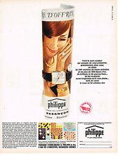 PUBLICITE  1965   PHILIPPE  montre controle quotidien par UTA AVIATION