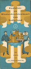 KASTELEN- EN KLEDERDRACHTENKAART VAN NEDERLAND - R.S. Stokvis & Zonen (ca. 1960)