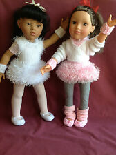 "Dolls Fashion clothes knitting  pattern. 18"" doll. Ballet outfit"