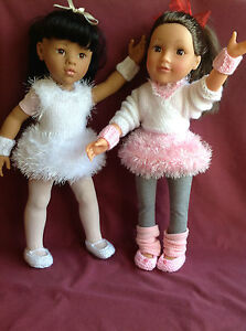 """Dolls Fashion clothes knitting  pattern. 18"""" doll. Ballet outfit. KNM64"""