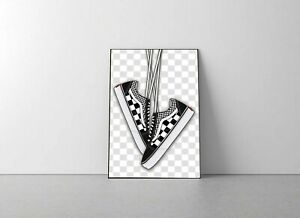 Vans checkerboard artwork poster print