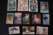 B004: VINTAGE Fairies,Angels,Magical Powers,Fallen Angel Die Cuts Scrapbooking