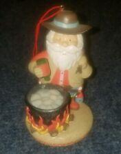 """Christmas Chili Santa cooking Christmas ornament 4.25"""""""