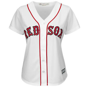 MLB Baseball Femmes Maillot Boston Rouge Sox Blanc Cool Base Majestic Jersey