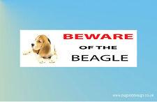 BEWARE OF THE BEAGLE Dog Puppy Puppies Vinyl Sticker Dogs C092