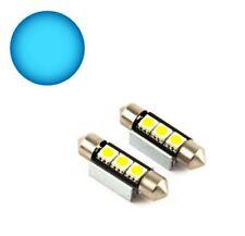 2x LAMPEN BLAU BLUE 39mm 3x5050-SAMSUNG-SMD-CHIP CANBUS SOFFITTEN 2 STÜCK