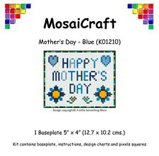 MosaiCraft Pixel Craft Mosaic Art Kit 'Mother's Day - Blue'  Pixelhobby