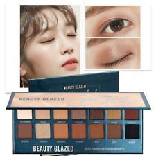 BEAUTY GLAZED Makeup Eyeshadow Palette Glitter Matte Warm Pressed Nice Natu Y5S3