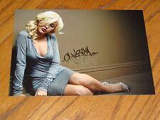 "FINE ART PHOTOGRAPH PROMO CARD CHRISTINA AGUILERA 5"" X 7"""