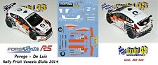DECAL  1/43 -  FORD  FIESTA R5  - PEREGO - Rally Friuli Venezia Giulia 2014
