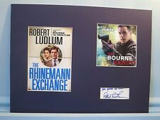 "Matt Damon in ""The Bourne Identity"" signed by its author Robert Ludlum"