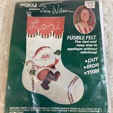 Dancing Santa 16� Stocking Kit Vtg New Erica Wilson Fusible Felt #7008 Stacy