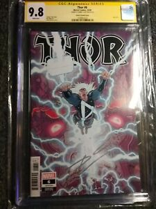 Thor #6 CGC SS 9.8 Spoiler Variant Death Of Galactus SIGNED Donny Cates Thanos